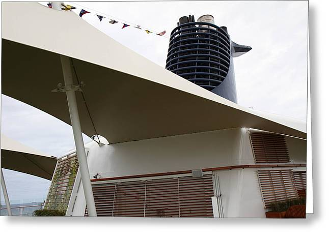 On Greeting Cards - Caribbean Cruise - On Board Ship - 12126 Greeting Card by DC Photographer