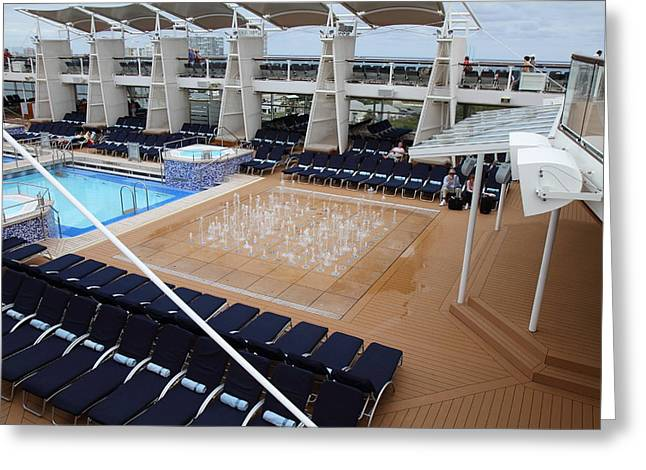 Caribbean Cruise - On Board Ship - 12129 Greeting Card by DC Photographer