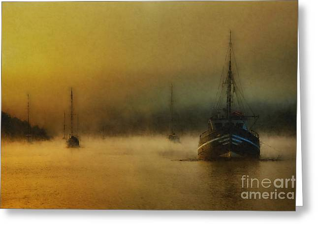 Carina In The Mist Greeting Card by English Landscapes