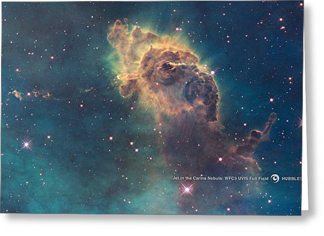 Outer Space Paintings Greeting Cards - Carina Nebula Greeting Card by Nasa