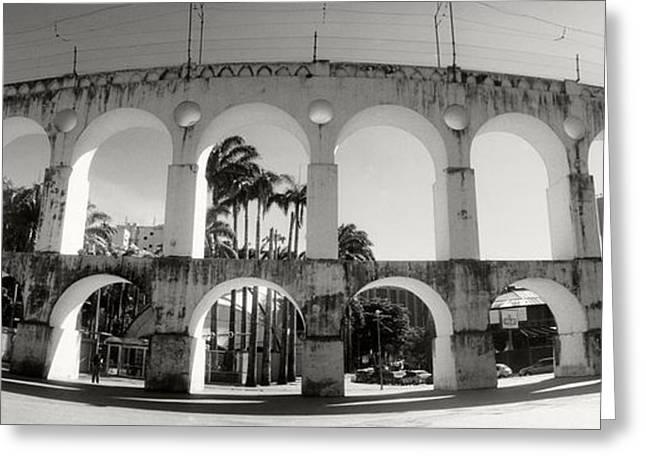 Teresa Greeting Cards - Carioca Aqueduct, Lapa, Rio De Janeiro Greeting Card by Panoramic Images