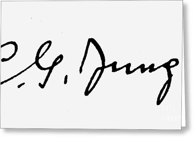 Swiss Psychiatrist Greeting Cards - Carl Gustav Jung  Greeting Card by Granger