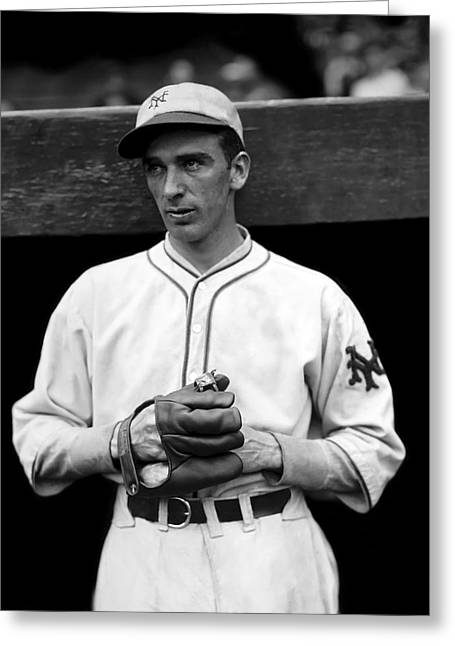 Mvp Greeting Cards - Carl O. Hubbell Greeting Card by Retro Images Archive