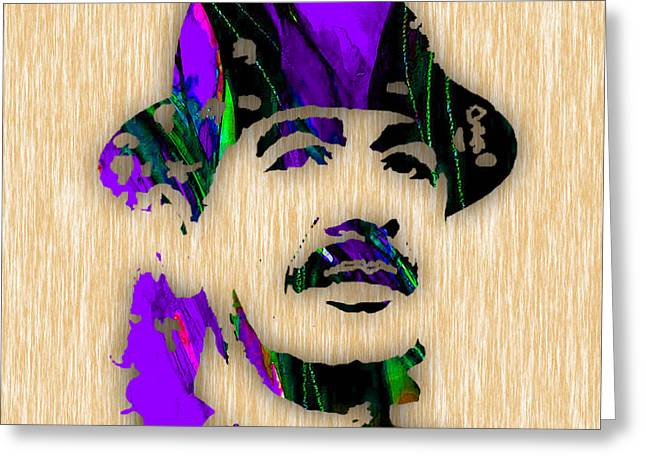 Carlos Santana Greeting Card by Marvin Blaine