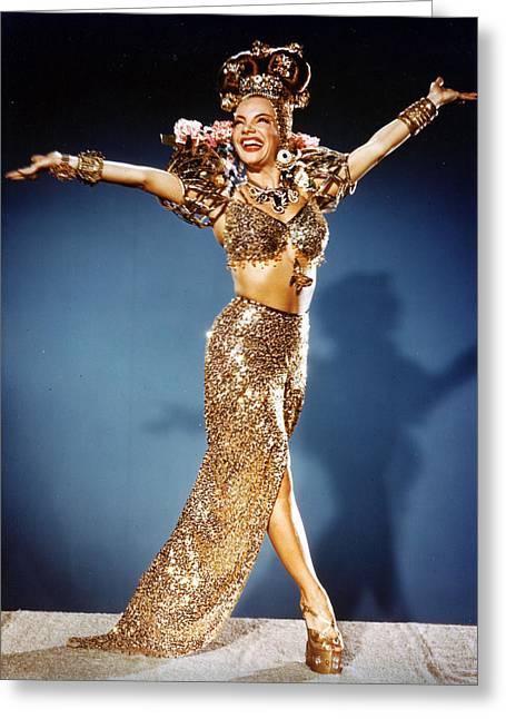 Miranda Greeting Cards - Carmen Miranda Greeting Card by Silver Screen