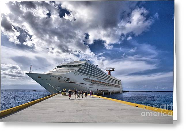 Carnival Glory Greeting Cards - Carnival Glory Greeting Card by Mark Baker