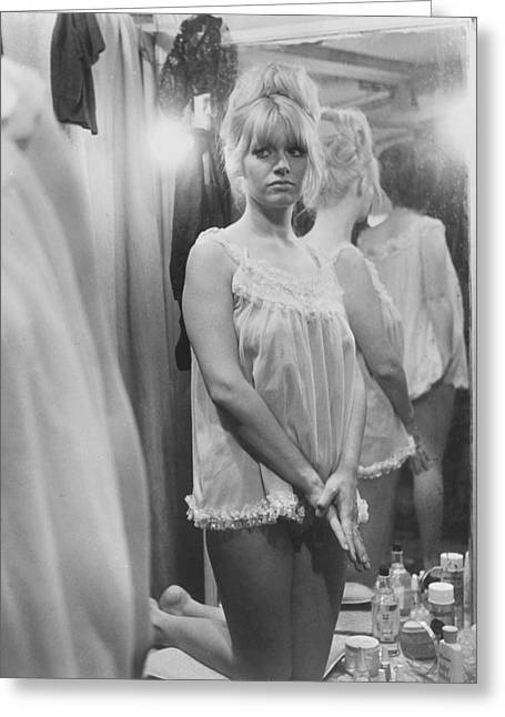 Poor Greeting Cards - Carol White in Poor Cow  Greeting Card by Silver Screen