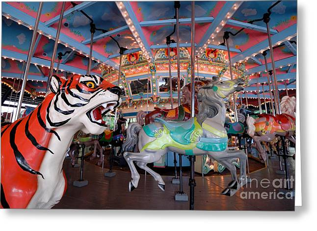 Kennywood Park Greeting Cards - Carousel at Kennywood Park Pittsburgh Pennsylvania Greeting Card by Amy Cicconi