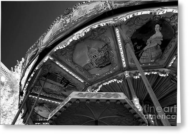 D.w Greeting Cards - Carousel Portrait Greeting Card by John Rizzuto
