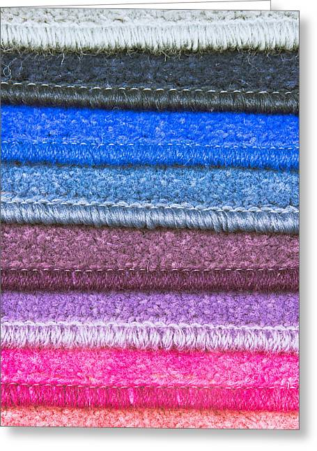 Spectrum Greeting Cards - Carpet colours Greeting Card by Tom Gowanlock