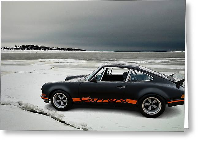 Sportscar Greeting Cards - Carrera RSR Greeting Card by Douglas Pittman