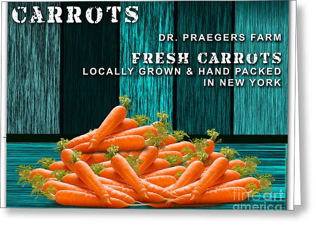 Carrot Greeting Cards - Carrot Farm Greeting Card by Marvin Blaine