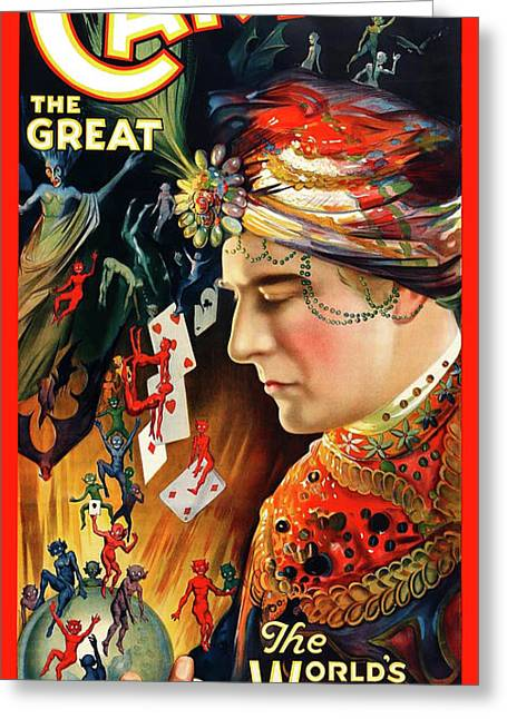 Antique Digital Greeting Cards - Carter the Great Greeting Card by Gary Grayson