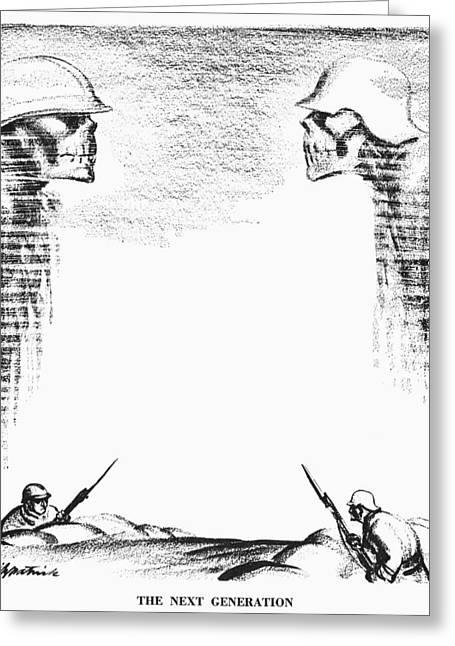 Bayonet Greeting Cards - Cartoon: World Wars, 1936 Greeting Card by Granger