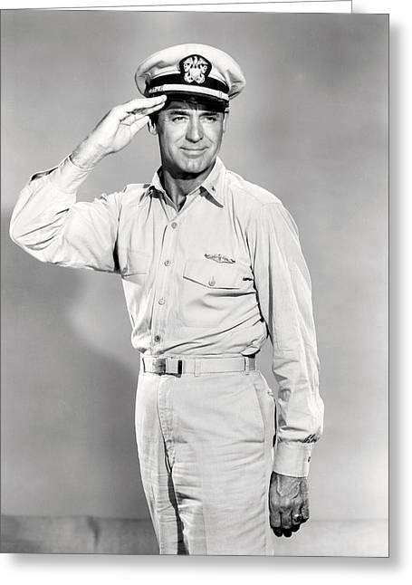 1950 Movies Greeting Cards - Cary Grant in Operation Petticoat  Greeting Card by Silver Screen
