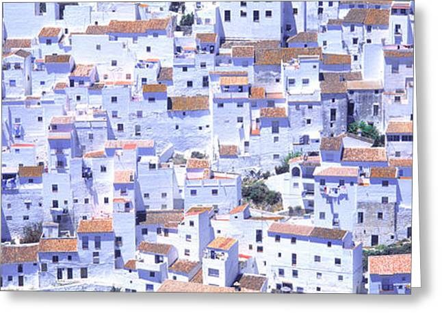 Pueblo Architecture Greeting Cards - Casares, Andalucia, Spain Greeting Card by Panoramic Images
