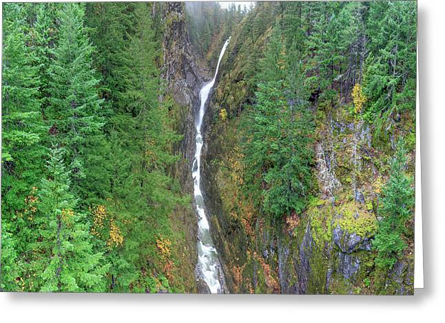 Cascades Waterfall Greeting Card by Tom Norring