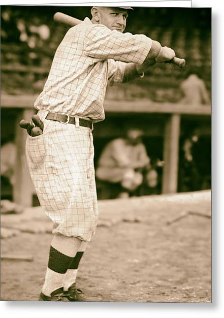 Casey Greeting Cards - Casey Stengel 1915 Greeting Card by Mountain Dreams