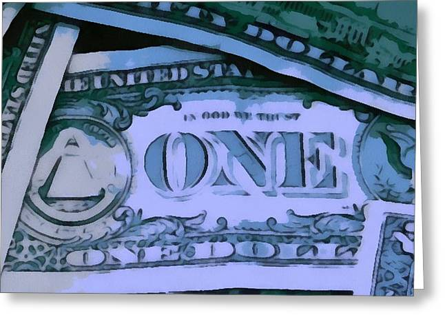 Cash Money Greeting Cards - Cash Greeting Card by Dan Sproul