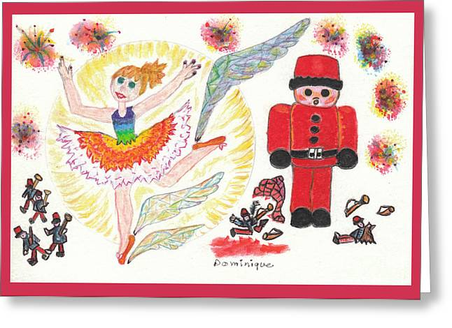 Tchaikovsky Greeting Cards - Casse-Noisette / The Nutcracker Greeting Card by Dominique Fortier
