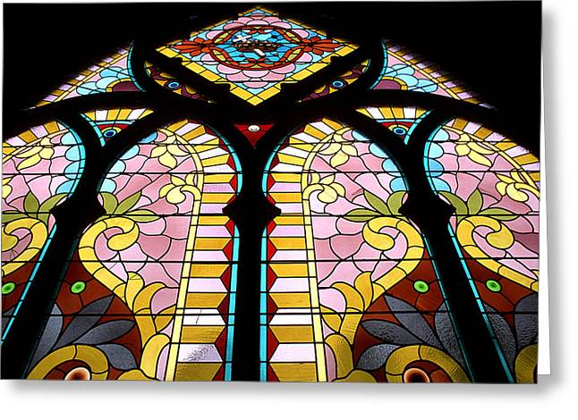 Colorful Photography Glass Greeting Cards - Cast Your Eyes To Heaven Greeting Card by Cyril Furlan