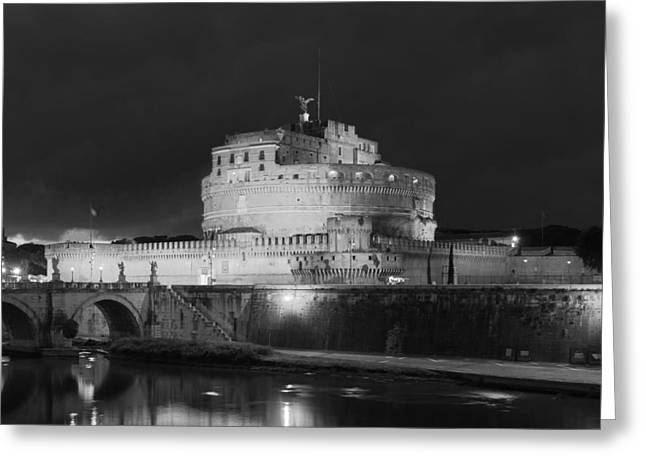 Italian Sunset Greeting Cards - Castel Sant Angelo - Rome Greeting Card by Mountain Dreams