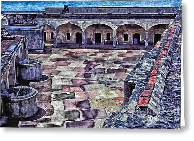 Old San Juan Greeting Cards - Castillo de San Cristobal Greeting Card by Thomas R Fletcher