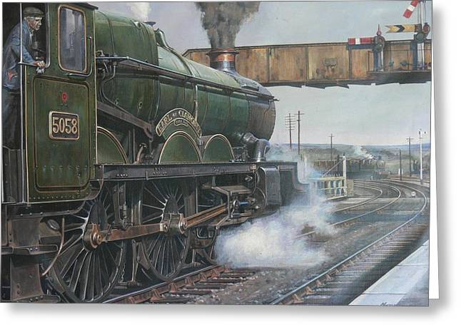 Iron Horse Greeting Cards - Castle class 4.6.0. Greeting Card by Mike  Jeffries