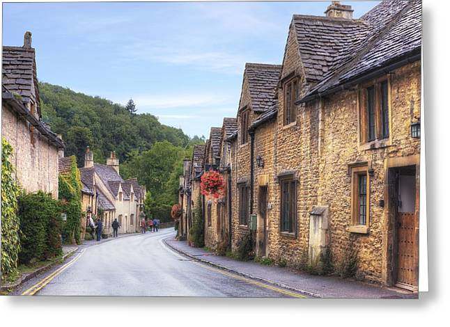 Main Street Greeting Cards - Castle Combe Greeting Card by Joana Kruse