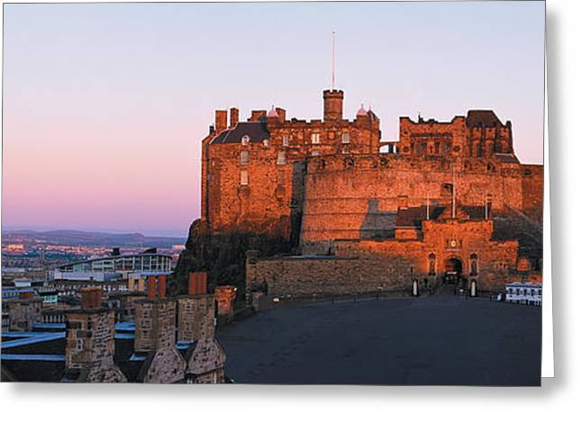 Esplanade Outdoors Greeting Cards - Castle In A City, Edinburgh Castle Greeting Card by Panoramic Images