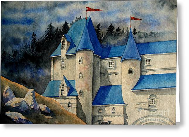 Castle In The Black Forest Greeting Card by Ranjini Kandasamy