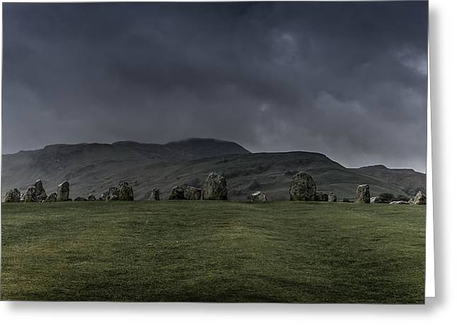 Stone Circle Greeting Cards - Castlerigg Stone Circle Greeting Card by Chris Fletcher