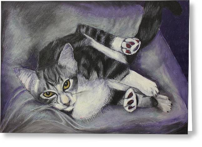 Gray Hair Greeting Cards - Catatude Greeting Card by Jeanne Fischer