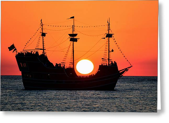 Boat Cruise Greeting Cards - Catching the sun Greeting Card by David Lee Thompson