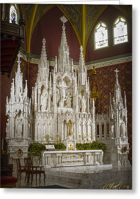 Cathedral Of The Holy Family Greeting Card by F Leblanc