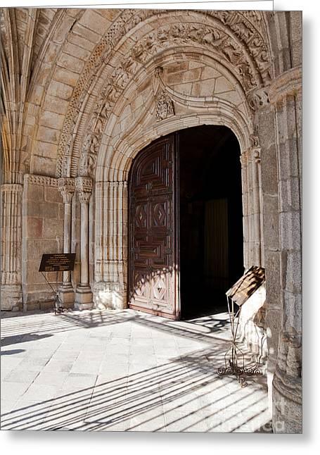 Cathedral Portal Greeting Card by Jose Elias - Sofia Pereira