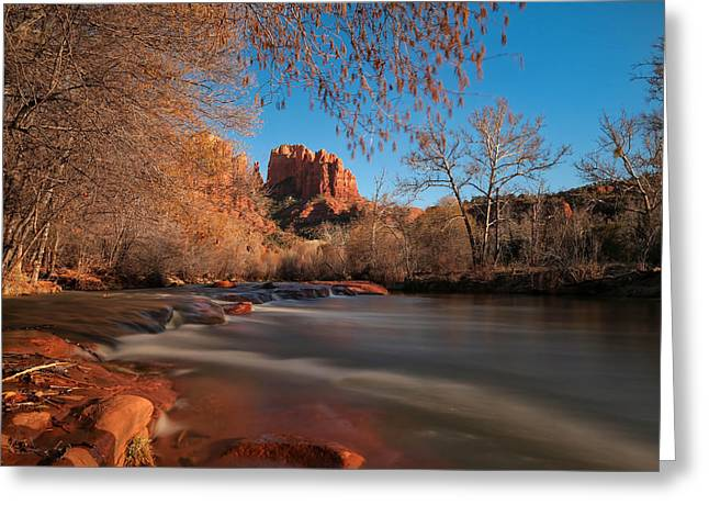 Cathedral Rock Sedona Arizona Greeting Card by Larry Marshall