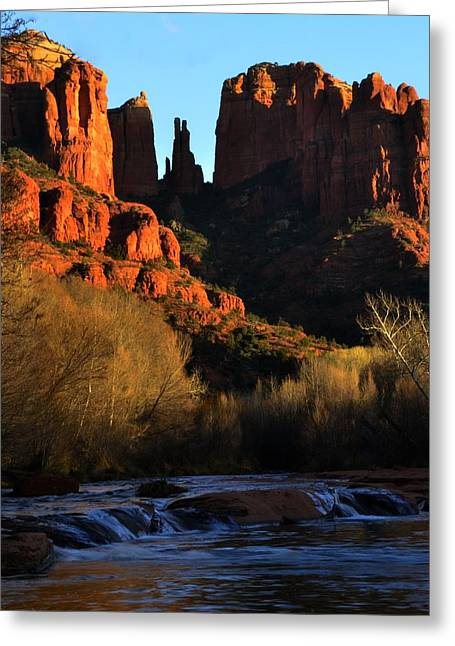 Cathedral Rock Greeting Cards - Cathedral Rock Greeting Card by Walt Sterneman