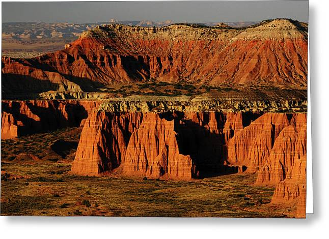 Cathedral Valley, Upper Cathedral Greeting Card by Michel Hersen