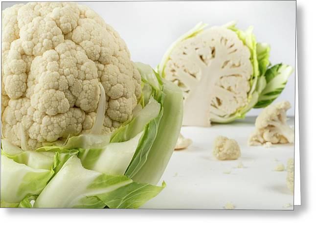 Cauliflower Greeting Card by Aberration Films Ltd