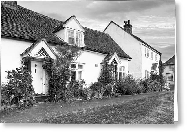 Causeway Cottages Finchingfield Greeting Card by Gill Billington