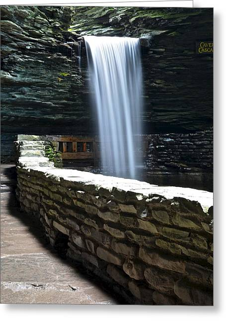 Pouring Greeting Cards - Cavern Cascade Greeting Card by Frozen in Time Fine Art Photography