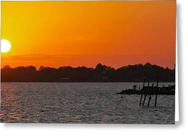 Cedar Key Greeting Cards - Cedar Key Sunset Greeting Card by Jeff Wright