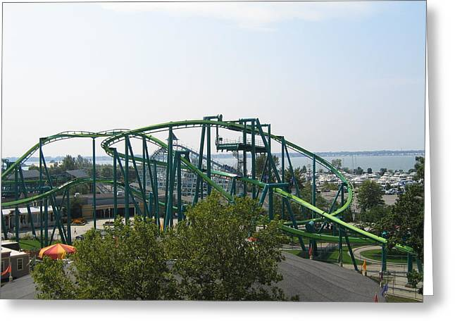 Ohio Greeting Cards - Cedar Point - Raptor - 12125 Greeting Card by DC Photographer