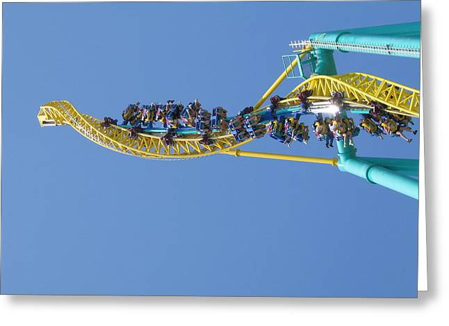 Wicked Greeting Cards - Cedar Point - Wicked Twister - 12122 Greeting Card by DC Photographer