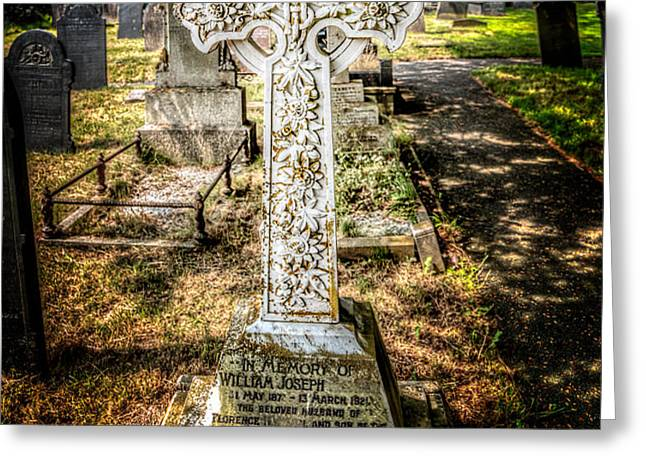Celtic Cross Greeting Card by Adrian Evans