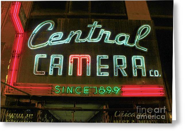 Central Camera Chicago Greeting Card by Gregory Dyer