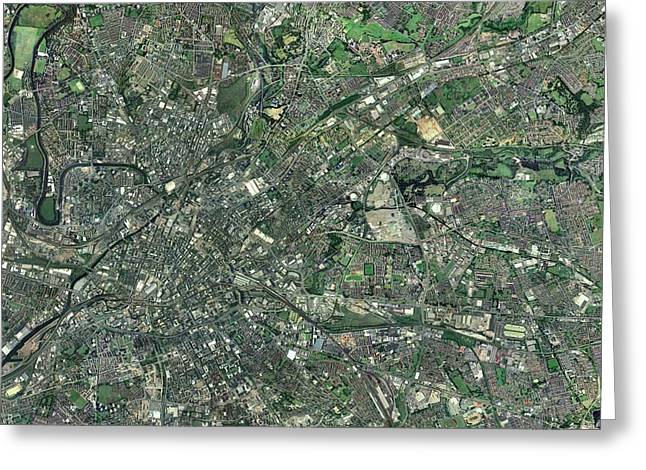 Central Manchester, Aerial View Greeting Card by Getmapping plc