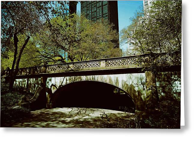 Central Park Photo Greeting Cards - Central Park Arch Greeting Card by Mountain Dreams