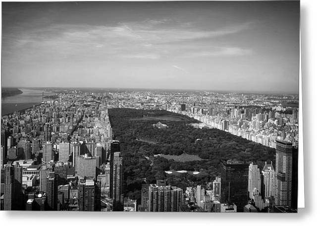 New York Vista Greeting Cards - Central Park - New York City Greeting Card by Mountain Dreams
